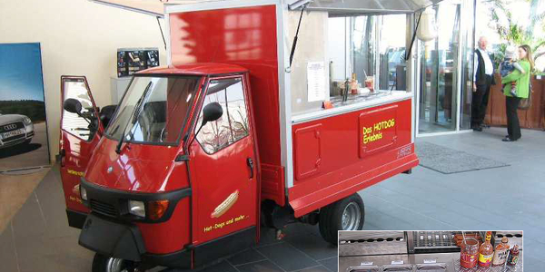 Hot Dog Mobil (Full Service) täglich 100 Hot Dogs incl. mieten