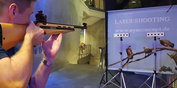 Laser Shooting Gallery (Twin Version) - Wild West Aktionsspiel
