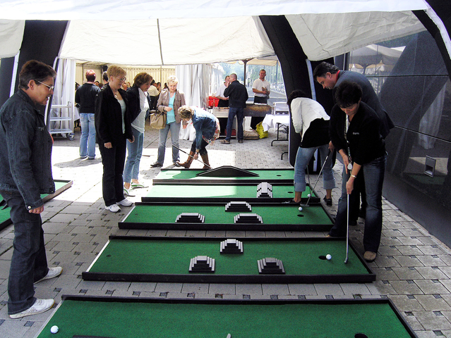 Minigolf Turnier Team Event