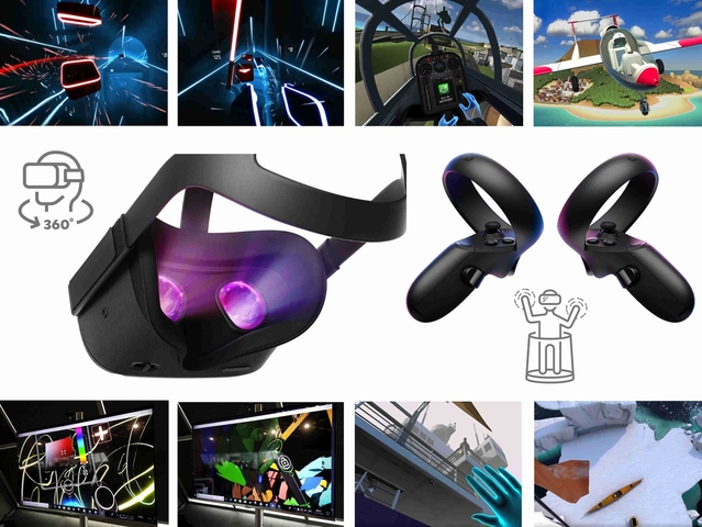 Oculus Quest VR Virtual Reality Brille (All-in-One) 360°