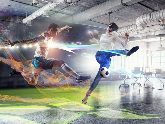 VR Arena VR Final Soccer Shoot Out Fußballsimulator (VR Virtual Reality Simulator mieten. )