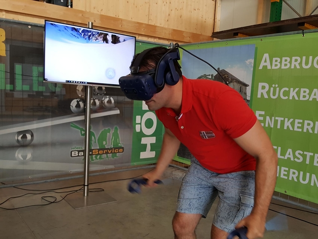 VR 360° Virtual Reality Ski Simulator